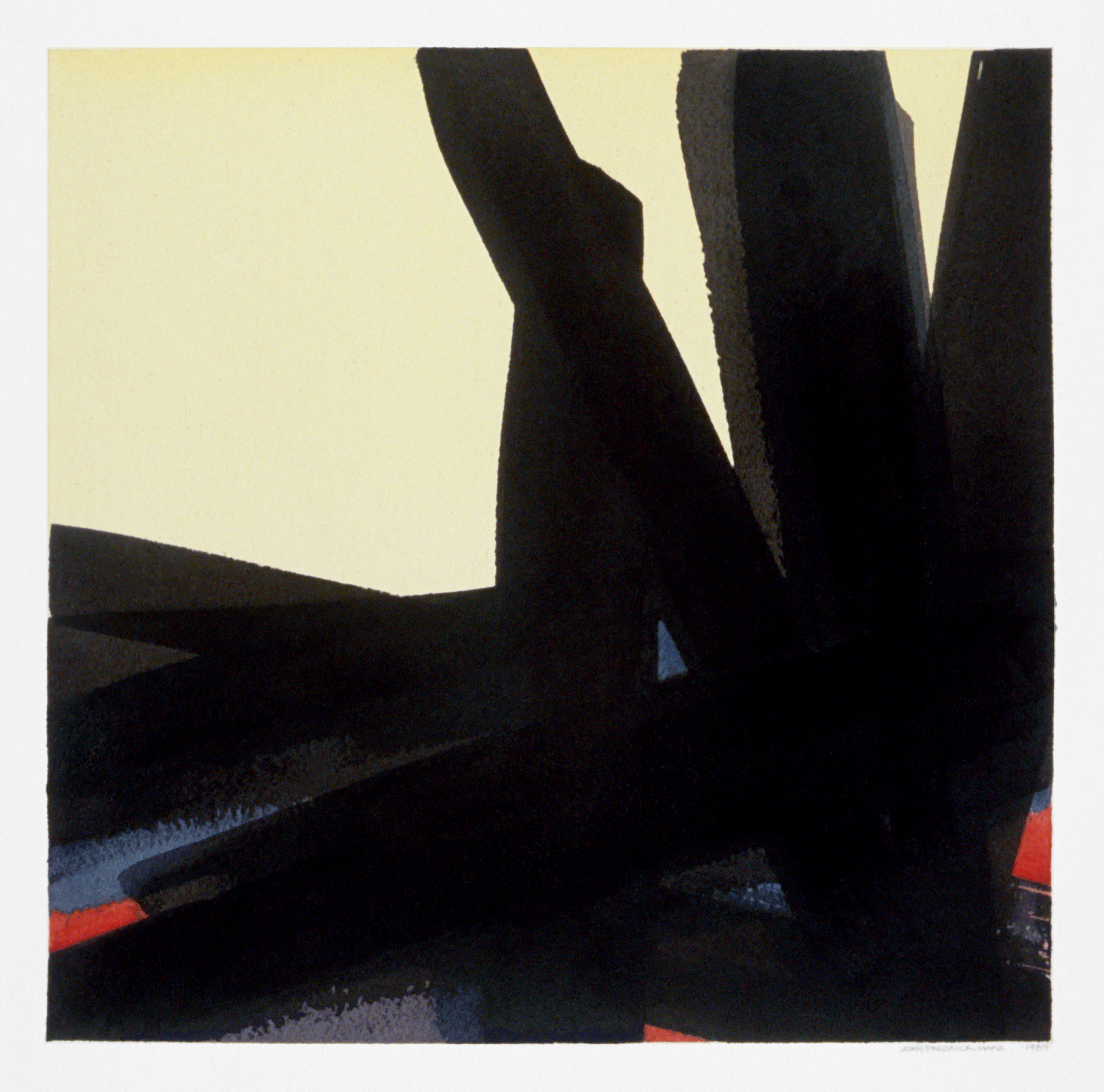 88 Abstraction in Black and Red, no.08 1989 10x10
